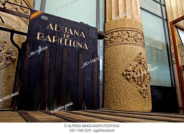 balance, New Customs building, 1888-1910, architecture, Enric Sagnier i Villavecchia, Barcelona, Catalonia, Spain