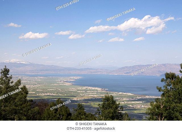 Lake Er-hai from Mt. Cang-shan, Dali, Yunnan, China