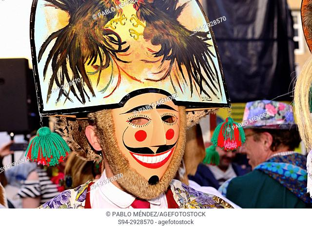 """Cigarrons of Verin, mask of the Entroido """"""""carnival"""""""" in Verin, Orense, Spain"""