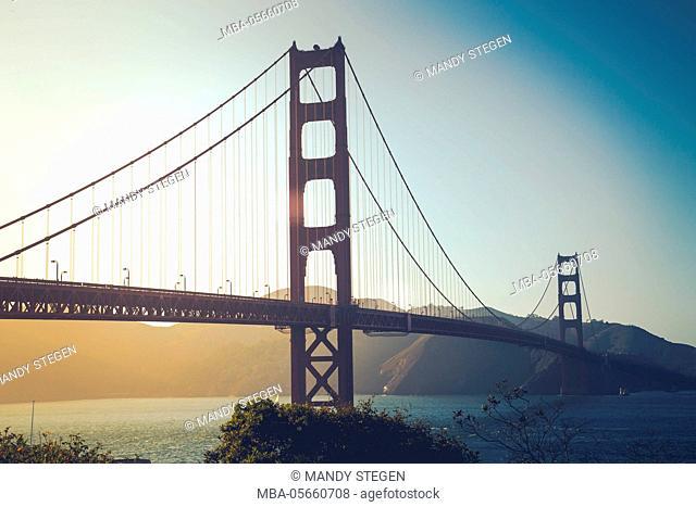 Golden Gate Bridge, San Francisco, California, the USA