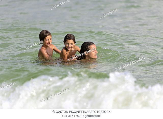 Playing in the water, Sok San Beach, Koh Rong Island, Sihanoukville province, Kingdon of Cambodia