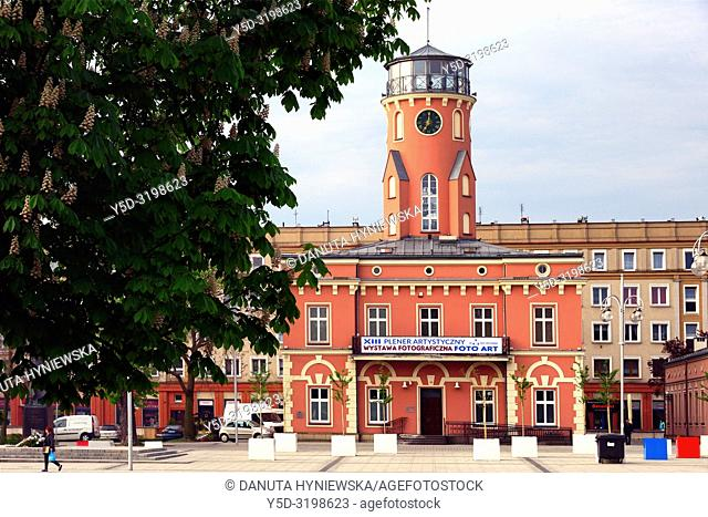 Town Hall and museum located on the Wladyslaw Bieganski Square near main avenue in Czestochowa - Holy Virgin Mary Avenue, Czestochowa, Silesian Voivodeship