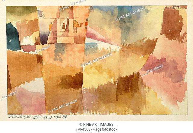 Kairouan, Before the Gates by Klee, Paul (1879-1940)/Watercolour on paper/Modern/1914/Germany/Moderna Museet Stockholm/13