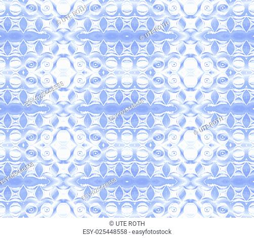 Geometric background, seamless circle and ellipse pattern, abstract waterproof foil, rough surface, burling, clinical and sober, blue white shining