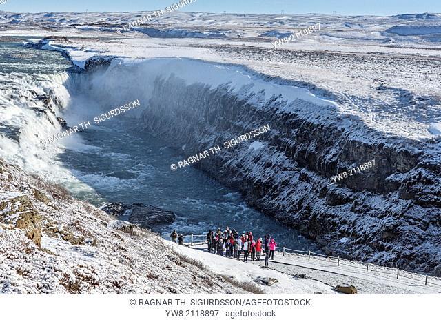 Gullfoss Waterfall, (Golden Falls), Iceland
