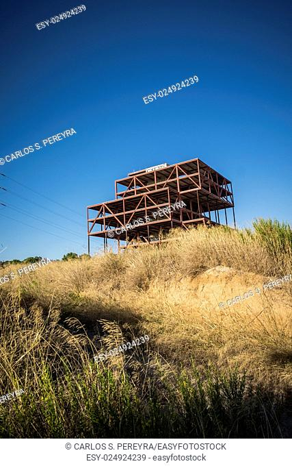 Abandoned offices construction in Sant Cugat del Valles Barcelona Spain