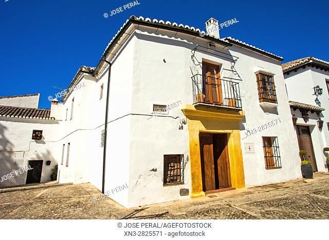 Street Sor Ángela de la Cruz Guerrero, Ronda, White Towns, Malaga province, Andalusia, Spain