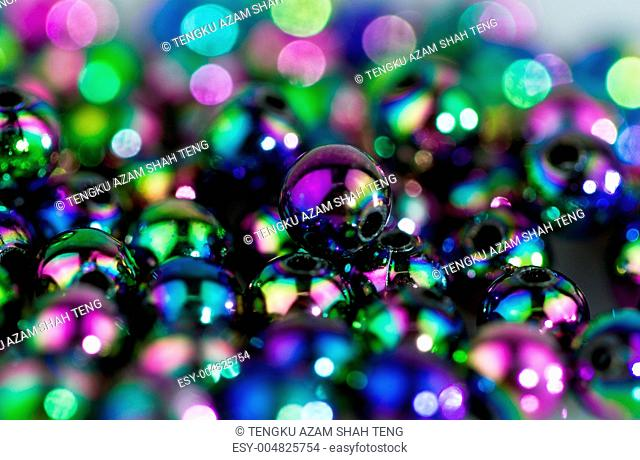 Blue Beads Abstract Background II