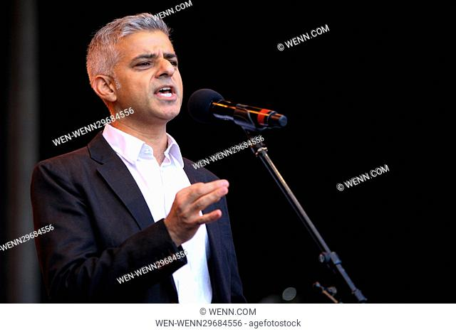 Thousands attend Africa on the Square for Black History Month Featuring: The Mayor of London Sadiq Khan Where: London, United Kingdom When: 15 Oct 2016 Credit:...