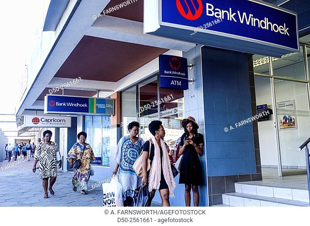 Bank office on Independence Avenue, Windhoek, Namibia