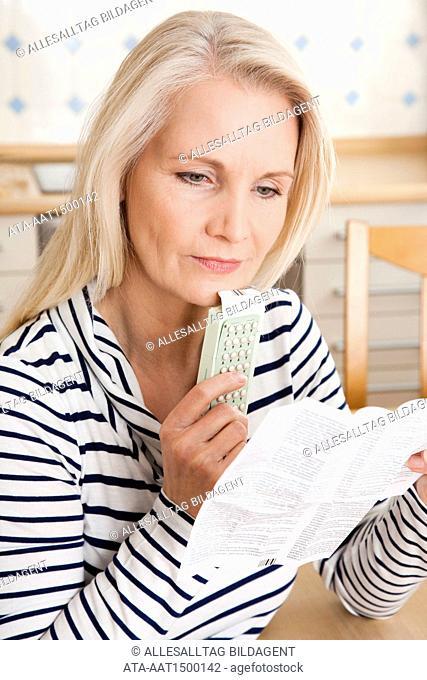 Woman taking hormone preparation