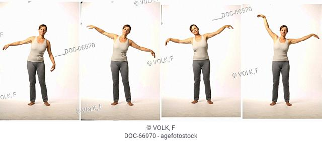 Chan Mi Qi Gong - inner harmony through an invigorated back -picture series - exercise : Ren Mai - Chong Mai - Du Mai and Dai Mai = special meridian - meridians