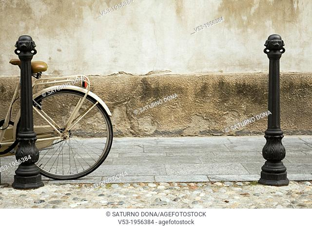 Street bollards and bicycle
