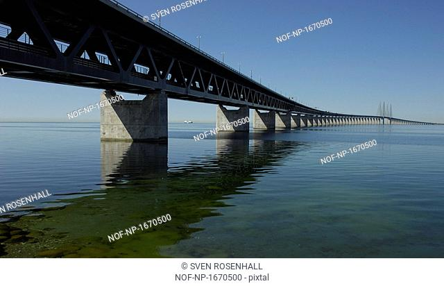 Bridge across the sea, Oresund Bridge, Sweden