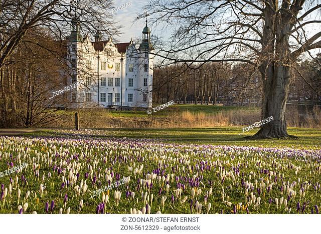 Ahrensburger castle in springtime, Schleswig Holst
