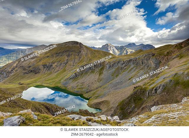 Ibon de Sabocos in Sierra de Tendenera, Spanish Pyrenees near Panticos, Huesca, Aragon
