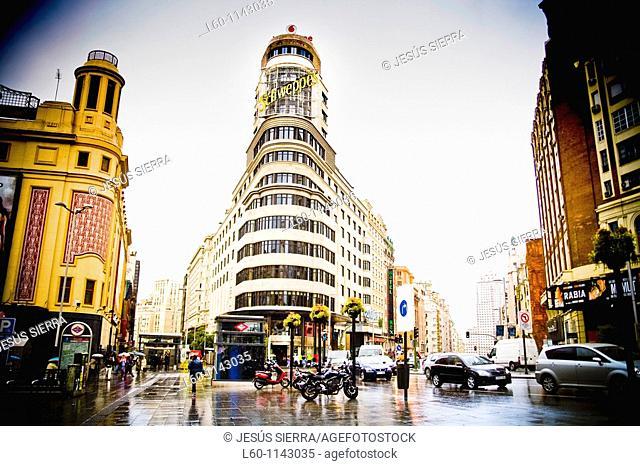 Plaza del Callao in Madrid Spain