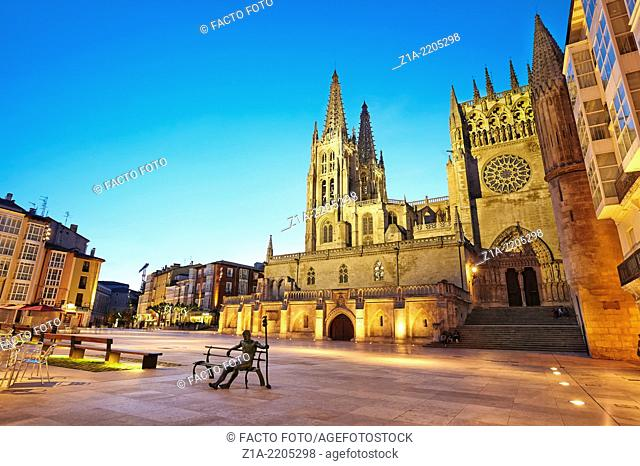 Cathedral of Saint Mary of Burgos, Sarmental facade. Castile and Leon. Spain