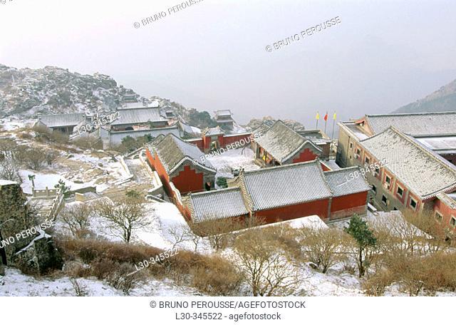 Mount Tai, sacred mountain. Tai'an. China