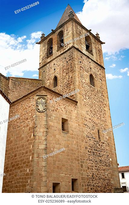 Caceres church of Santiago in Extremadura of Spain by the via de la Plata