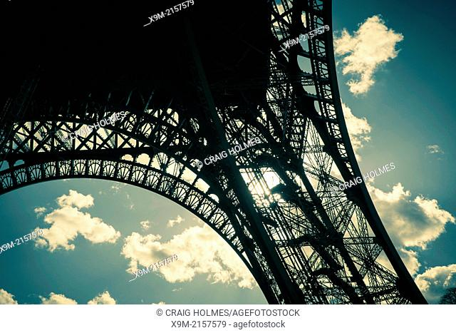 Abstract view of The Eiffel Tower, Paris, France