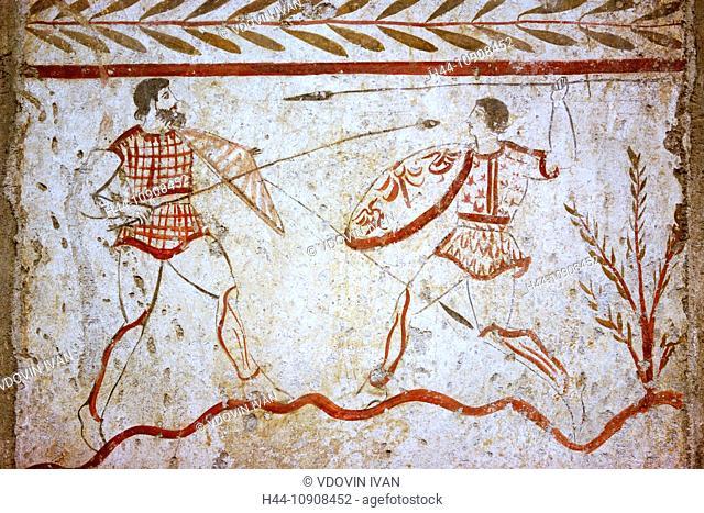 Europe, European, Western Europe, Italy, Italian, travel, destinations, City, town, Architecture, Art, arts, Mural painting, Fresco, Greek, 5th century BC