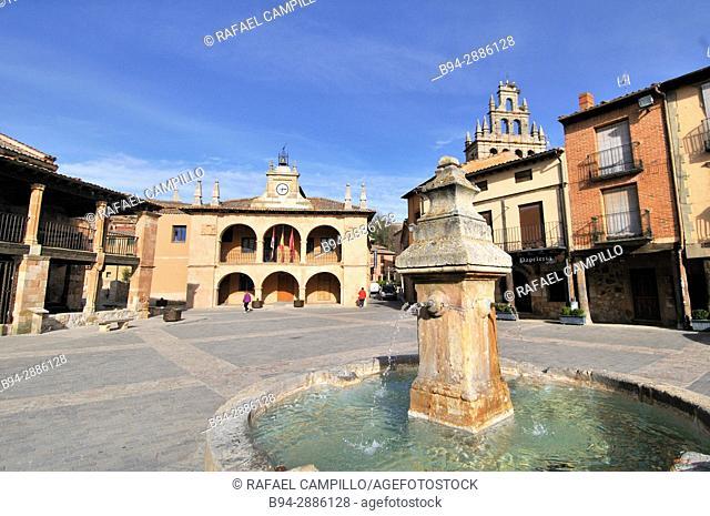 Main square of Ayllon. Segovia province, Casilla León. Spain