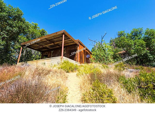 View of the rusted Tin House. Julia Pfeiffer Burns State Park, California, United States