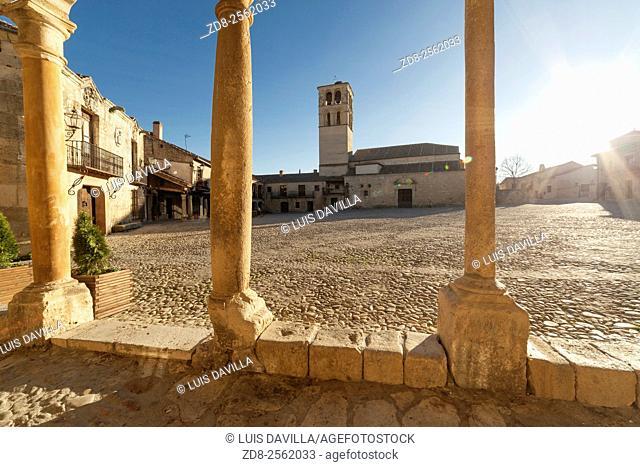 main square. pedraza. segovia. spain