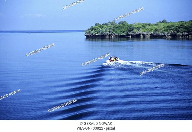 Tansania, Pemba, boat on sea