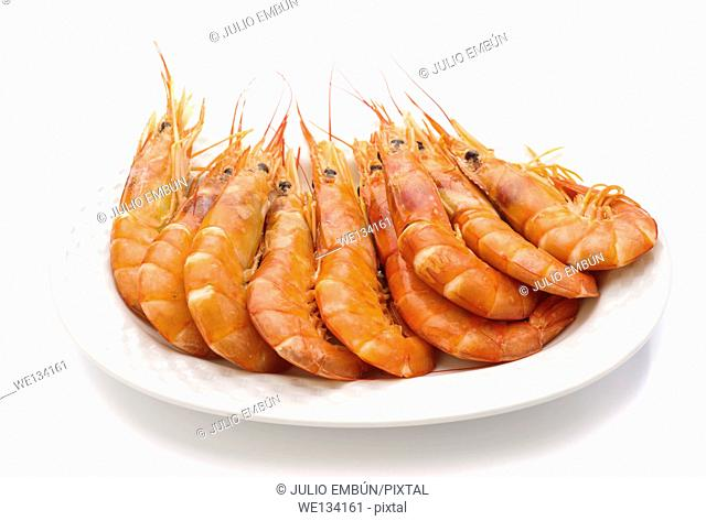 ordered prawns on a platter