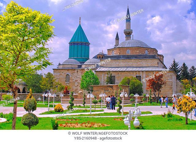 Mevlana Mosque and Museum, Konya, Anatolia, Turkey