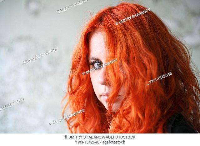 face pretty redhead girl