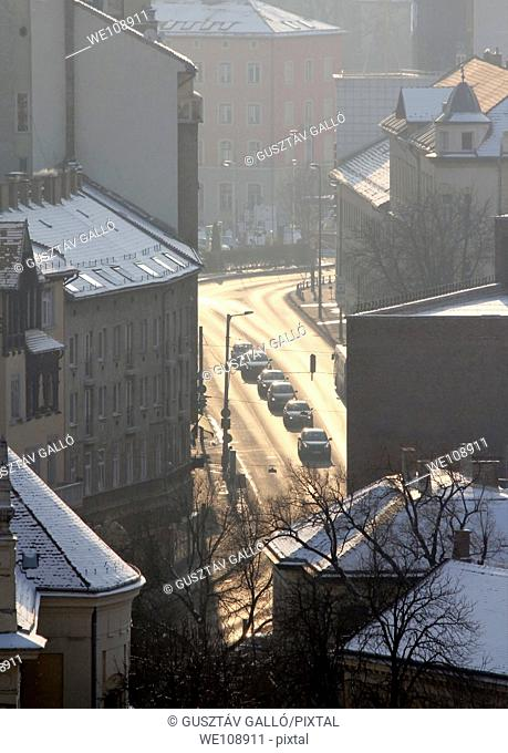 Urban street scene