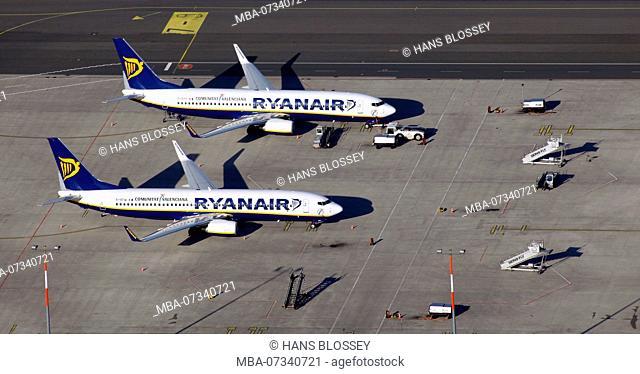 Weeze Airport, Lower Rhine Airport, Ryanair, Budget Airline, Dusseldorf WEEZE Airport, Weeze, Lower Rhine, North Rhine-Westphalia, Germany, Europe