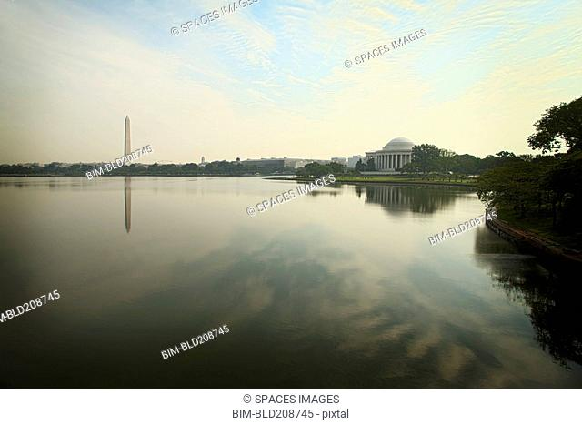 The Jefferson Memorial and Washington Monument