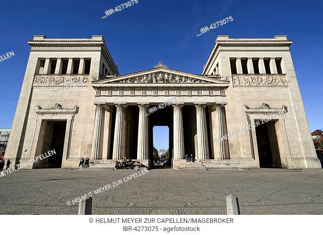 Propylaea, east side, architect Leo von Klenze, Königsplatz, Munich, Bavaria, Upper Bavaria, Germany