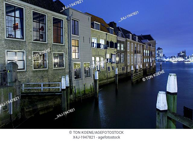 downtown the old city of Dordrecht, netherlands