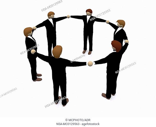 business teamwork 3d illustration