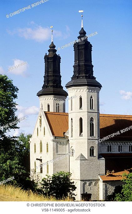 Sweden, Gotland island, World Heritage Site, Visby, The Cathedral