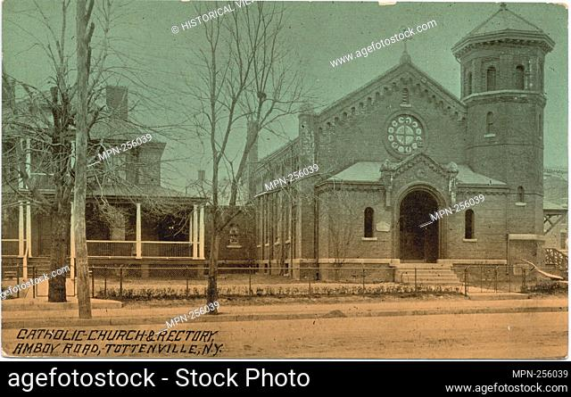 Catholic Church & Rectory, Amboy Road, Tottenville, N.Y. Staten Island post cards Churches, Orphanages. Staten Island (New York, N.Y.). Postcards