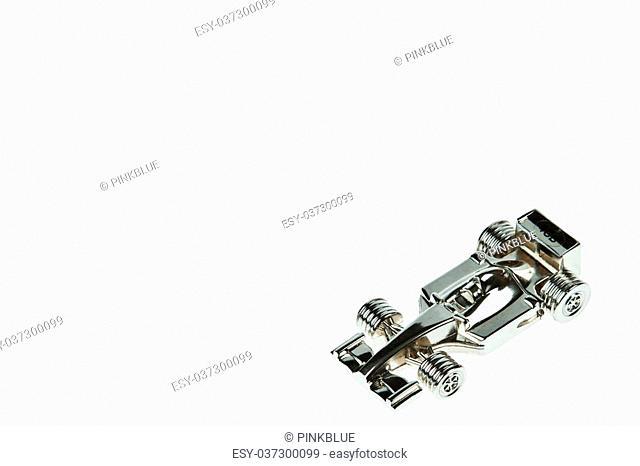Silver F1 Car Model