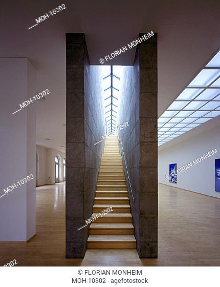 Kleve, Museum Kurhaus/ Ausstellungsraum und zentrales Treppenhaus