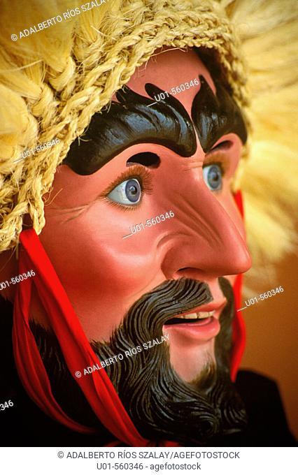 Parachicos mask. Chiapa de Corzo, San Sebastian festival. Mexico