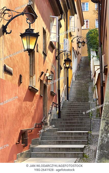 Warsaw Old Town, Kamienne Schodki Street, Warsaw, Poland, Unesco,