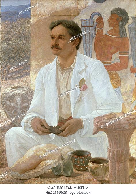 Sir Arthur Evans among the Ruins of the Palace of Knossos, 1907. Artist: Sir William Blake Richmond