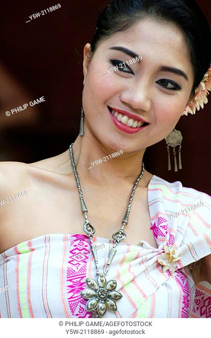 Thai dancer performing at Jim Thompson House, Bangkok