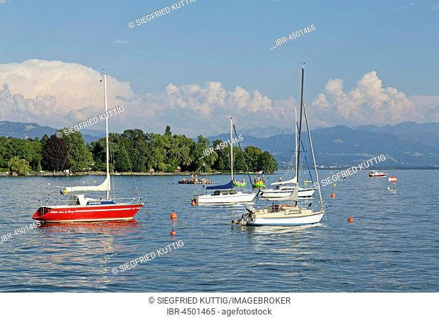 Sailboats, Lake Constance, Bavaria, Germany