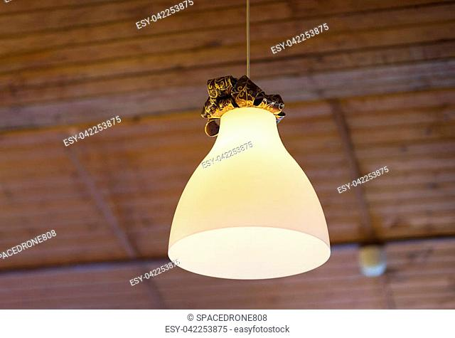 Cafe lampshade bokeh background hd