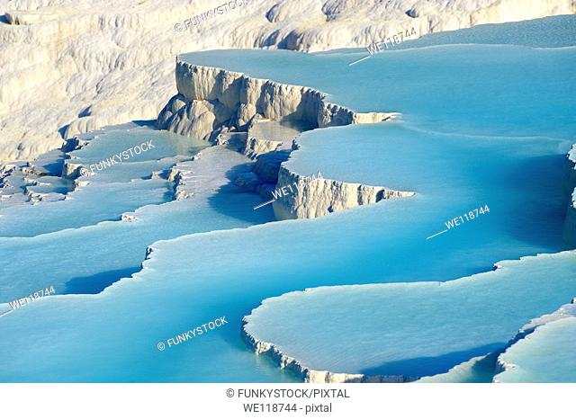 Pictures & Image of Pamukkale Travetine Terrace, Turkey Images of the white Calcium carbonate rock formations